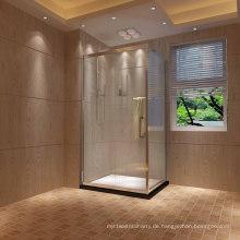 Rechteckige quadratische Schiebetür Dusche Einschließung
