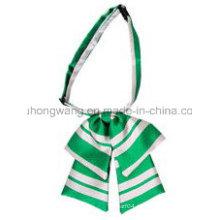 Мода леди полиэстер воротник цветок лук галстук