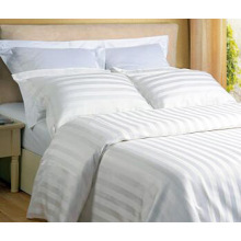 Juego de cama de algodón Stripe Hotel con juego de edredón (WS-2016270)