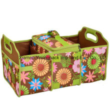 Custom Flower Print Collapsible Trunk Organizer and Cooler