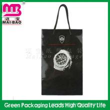 populares bolsas de bolsa de reloj personalizado con paja de papel para regalo de reloj