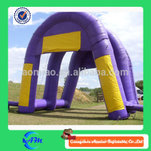 purple color inflatable welcom line arch way