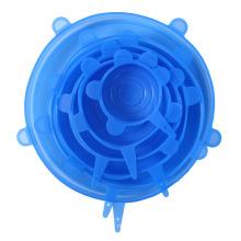 Conjunto de tampa de silicone elástico flexível 6 pacotes para alimentos