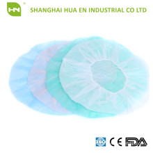 Blue Non woven PP Bouffant Cap with Colorful