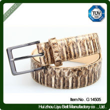 High Quality Leather Men's Belt With Snake Pattern