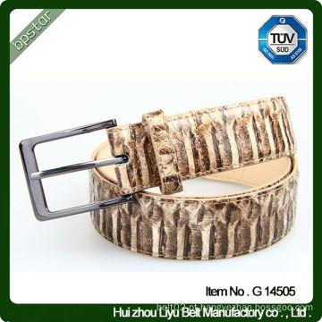 Cinto para homens de couro de alta qualidade com padrão de serpente