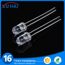 High Brightness 3mm Straw Hat RGB LED Diode
