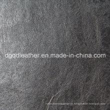 Bom couro de mobília de rapidez de cor (qdl-50304)