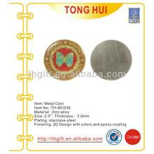 Мемориальная монета из нержавеющей стали, сувенирная монета с эпоксидной смолой