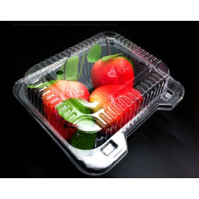 Pet Clear Plastic Compartment Take Away Salad Food Container Tray 6