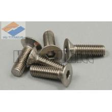 Gr5 titanium flat countersunk square neck bolts