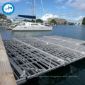 floating pier aluminum steel structure design plastic pontoon