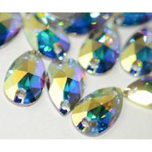 Dongzhou 3230teardrop Crystal Flat Back Sew on Beads for Dress