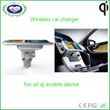 Hot Selling Car Mobile Charger Chargeur de téléphone sans fil pour iPhone et Samsung