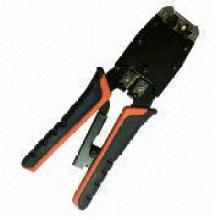 Crimping Tool for 8p8c/RJ45, Rj12/6p6c, Rj11/6p4c, 6p2c with Ratchet