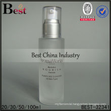 100ml frosted cosmetic bottle with silver pump, empty packaging bottles, skin care cosmetic bottle
