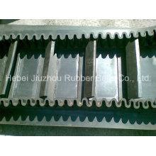 Усиленные текстильной боковины гофрированного ленточный конвейер