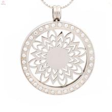 Круглый изготовленный на заказ металл водонепроницаемые воротник ожерелье подвески свет для пар