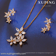 61268-Xuping Fashion Woman Jewlery engastado con oro de 18 quilates plateado