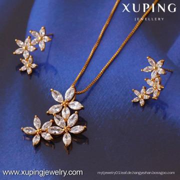 61268-Xuping Fashion Damen Schmuckset mit 18 Karat Vergoldet