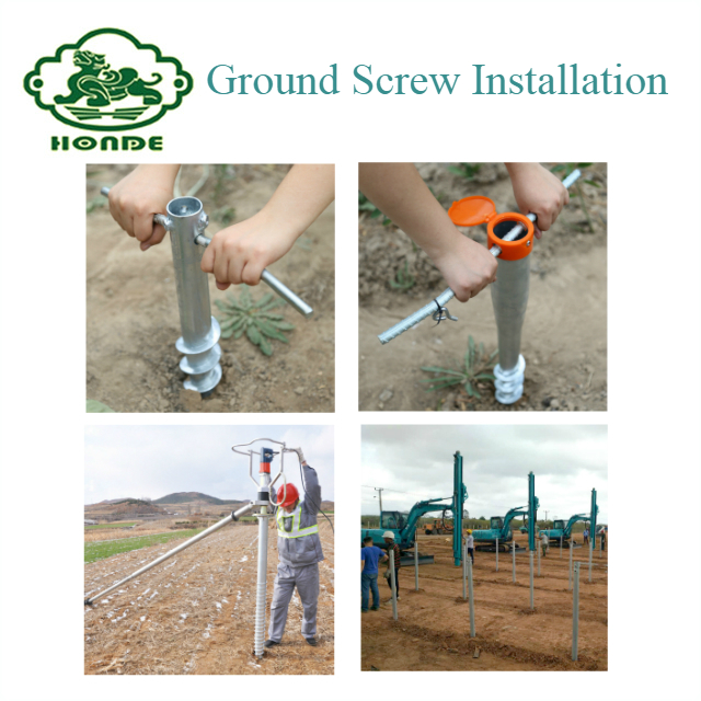 ground screw installation