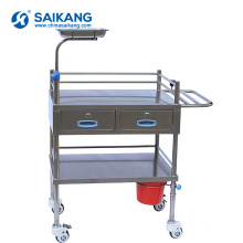 SKH029 Stainless Steel Hospital Treatment Trolley