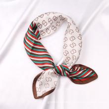 Wholesale New Style Women Silk Satin Head Scarves Custom Letter Print Scarf For Summer