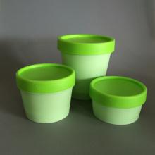Simple Design PP Cream Jar for Cosmetic Packaging
