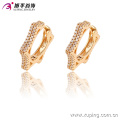 90942 New arrival popular jewelry simply stylish star shaped hoop earrings gold earrings for ladies
