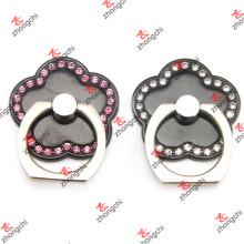 Flower Shape Black Color Smartphone Finger Ring Holder Atacado (SPH132)