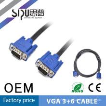 SIPU beste Qualität VGA-Kabel 3 + 6 10 m Vga zu Vga Kabel Preis in Türkei VGA-Kabel