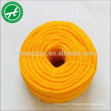 Corde de torsion de PE de 3 brins pour la corde de mouillage de bateau