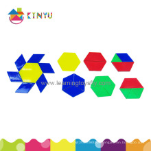 Educational Manipulative Toys Overhead Pattern Blocks/120