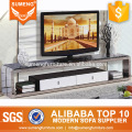 2016 modern design cheap faux marble top tv stand with drawers