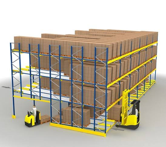 Pallet Flow Rack Illustration