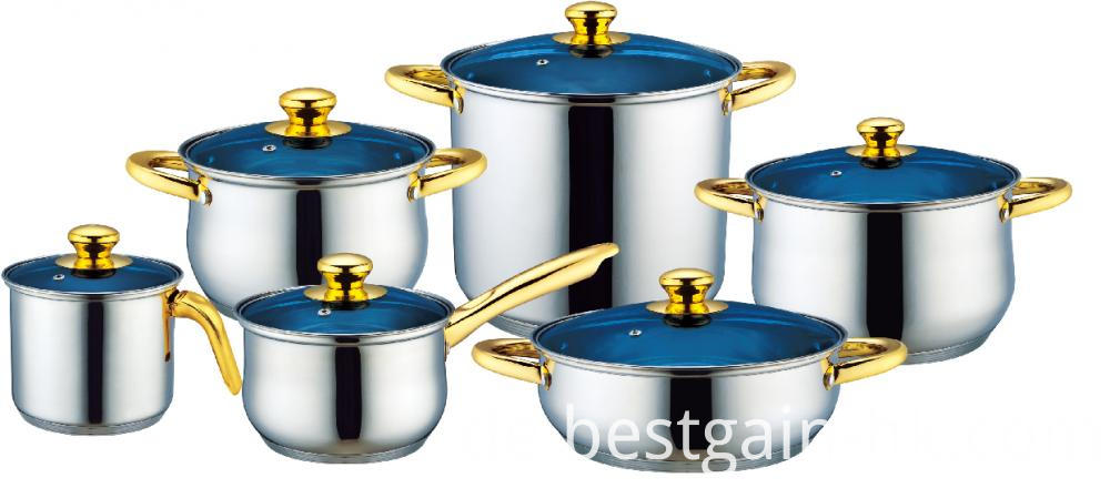 12 Pieces Cooking Pots with Milk Pot