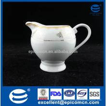 Золотой деколь античный керамический сливк фарфоровый молочный кувшин