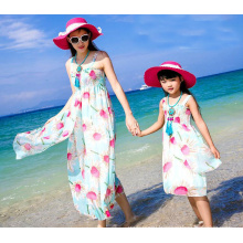 2017 New style Summer mother and child dress high fashion printed mother and daughter beach dress Factory price 2017 New style Summer mother and child dress high fashion printed mother and daughter beach dress Factory price