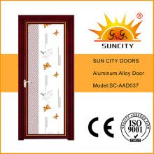 Ventas superiores del precio de fábrica Solo las puertas de aluminio de cristal del oscilación (SC-AAD037)