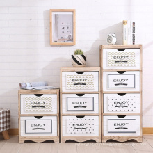 Living room furniture solid wood storage cabinet with drawers