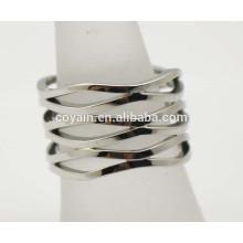 Especial hueco de fundición de plata anillo de diseños para las mujeres