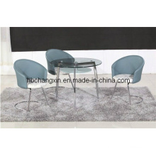 High Quality Glass Round Dining Table and Chair