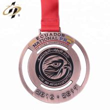Médaillon de défi de judo personnalisé en bronze