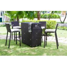 Unique Design Poly Rattan Bar Set For Outdoor Garden
