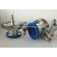 Válvula de control de purga de aire de acero inoxidable sanitaria conector de conexión rápida