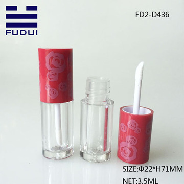 Mini Round Custom cosmetic Lip Gloss Bottle