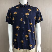 Chemises à manches courtes imprimées pour hommes