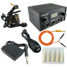 PS104010 tattoo kit with black tattoo machine and tattoo power supply
