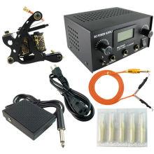 PS104010 tattoo kit with black tattoo machine and tattoo power supply