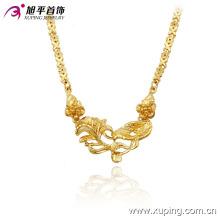 Fashion Xuping Elegant 24k collares chapados en oro con flor en cobre ambiental 42711